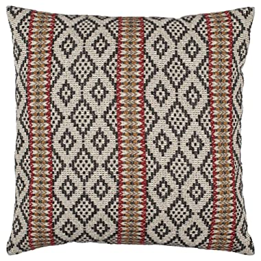 Stone & Beam Mojave-Inspired Decorative Throw Pillow Cover and Insert, 20  x 20 , Black and Red