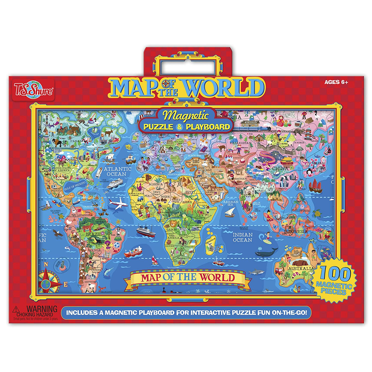 Amazon ts shure map of the world magnetic playboard and amazon ts shure map of the world magnetic playboard and puzzle toys games gumiabroncs Images