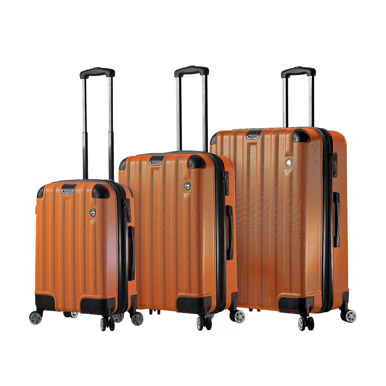 Mia Toro Italy Incatesimo Hardside Spinner Luggage 3pc Set-Orange
