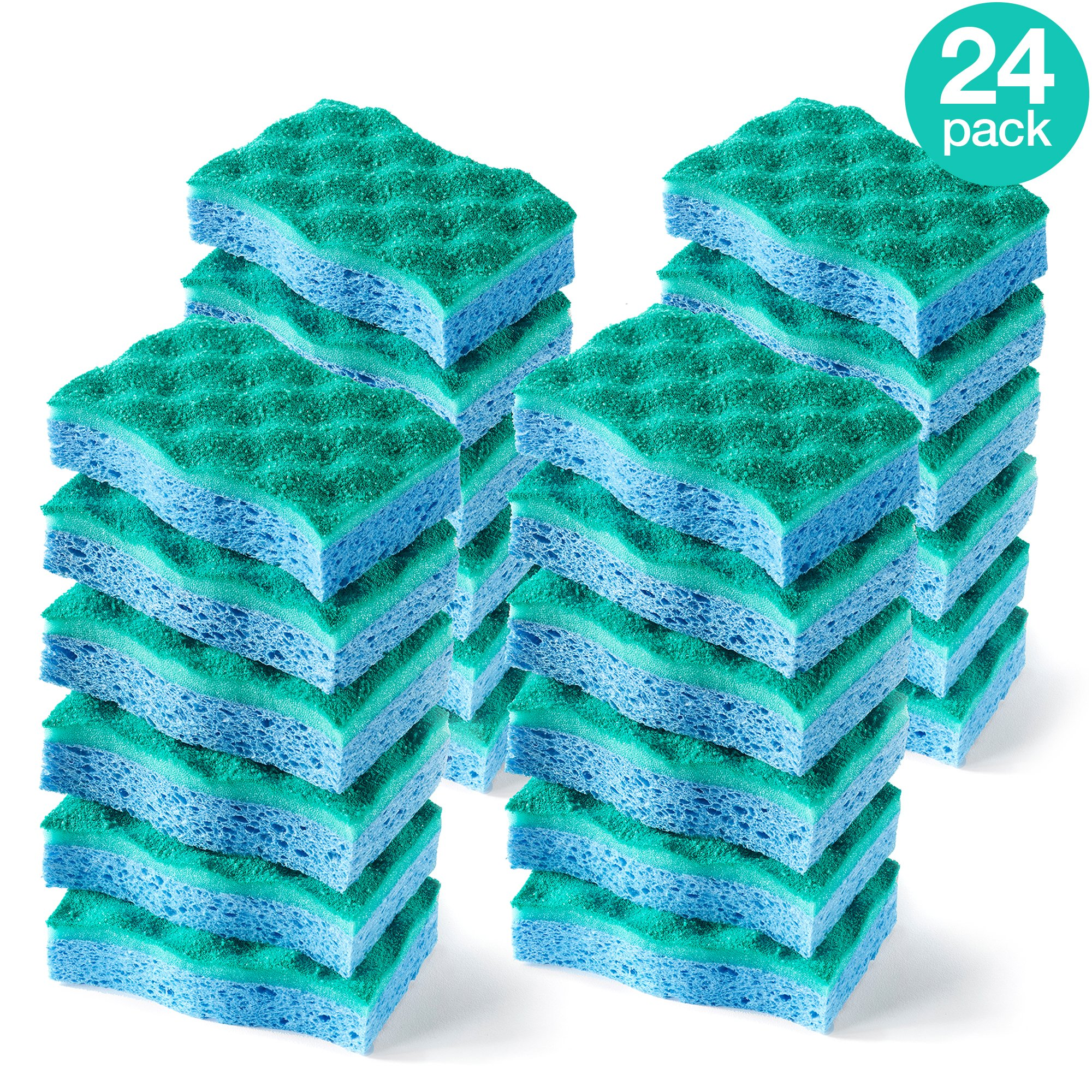 O-Cedar Multi-Use Scrunge Scrubber Sponge (Pack of 24)