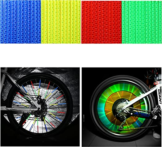 12X Cycling Wheel Spoke Reflector Bike Bicycle Reflective 2019h Mount L0Z0 V7N5