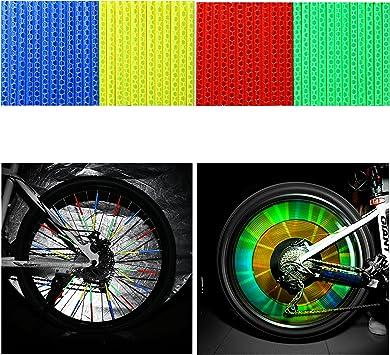 Tagvo bicicleta Spoke reflector 4 unidades/48 piezas (12 x azul + ...