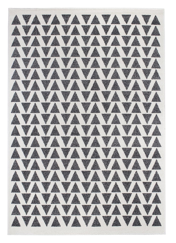 Andiamo Kurzflor Web Isos Teppich, Polypropylen, Creme grau, 160.0 x 230.0 x 1.5 cm