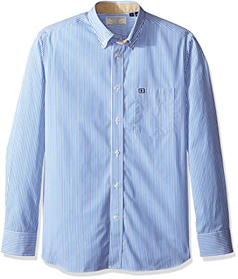 da9fe90f Façonnable Men's Faconnable Club Fit Striped Elbow Patch Special Shirt, Blue /Multi, XX-Large: Amazon.co.uk: Clothing