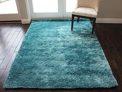 c1e9277af00a78 Amazon.com: 5-Feet-by-7-Feet Pile Rug Fluffy Fuzzy Modern Home Store ...