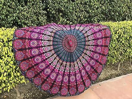 Tela redonda de mandala, de Raajsee, estilo hippie, diseño indio bohemio