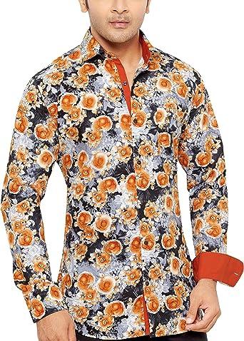 CARLOS DIAZ - Camisa casual - Paisley - Clásico - Manga Larga ...