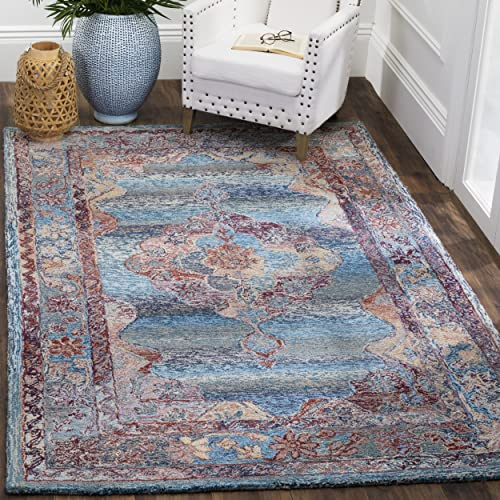 Safavieh Vintage Oushak Collection VOS740A Handmade Blue Area Rug 4 x 6