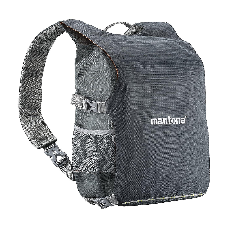 Mantona Elements Pro 30 デュアルバックパック カメラ用 ブラック/オレンジ B01N47CZV1