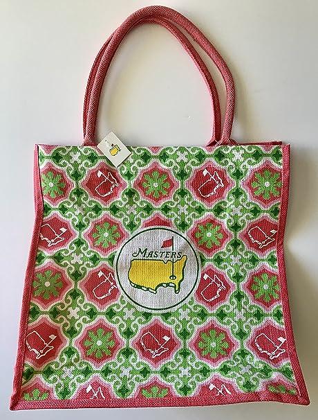 20ce137925d Masters golf Tote Bag jute floral design large augusta national 2019 ...