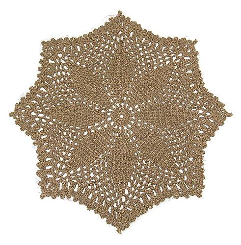 Amazon Round Star Or Flower Jute Area Rug Handmade Crochet