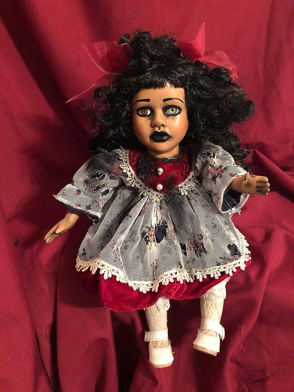 OOAK Small Moving Musical Creepyホラー人形座っているアートby Christie creepydolls   B07BGQ4ZK5