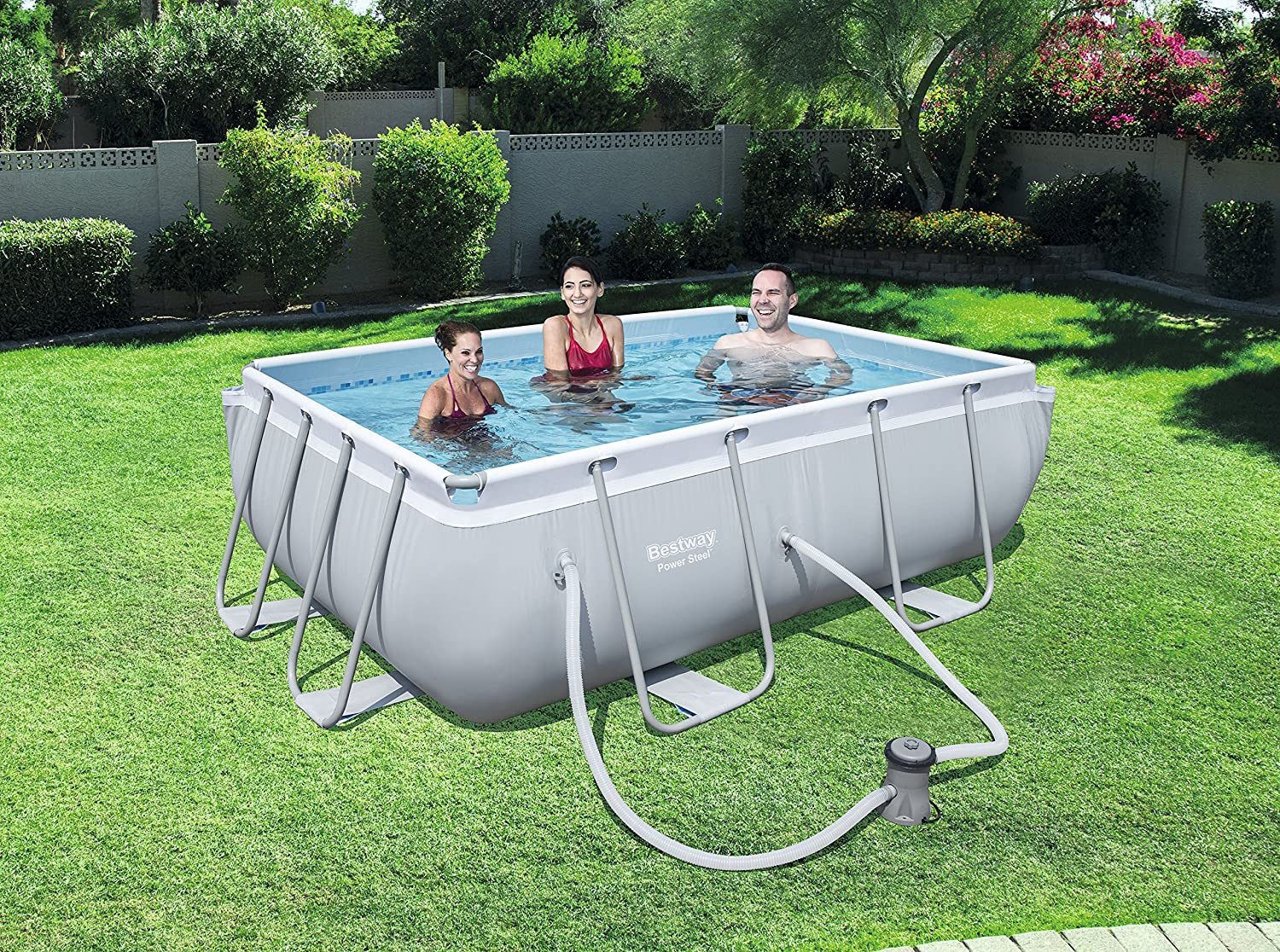 Bestway 56629 Piscina Power Steel Rectangular, M: Amazon.es: Jardín