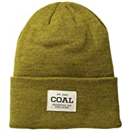 Coal Men's The Uniform Fine Knit Workwear Cuffed Beanie Hat,
