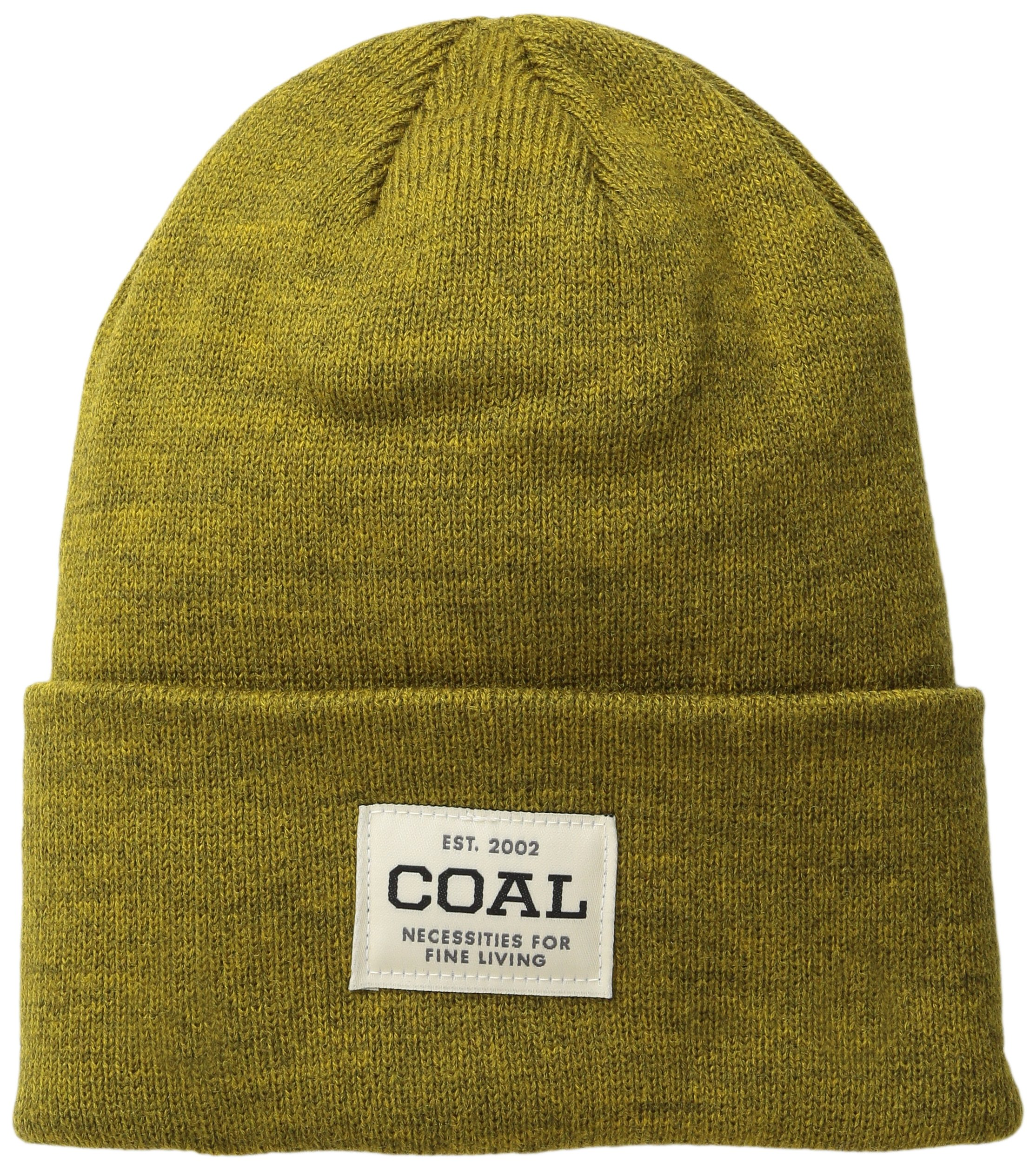 Coal Men's The Uniform Fine Knit Workwear Cuffed Beanie Hat, Golden Heather, One Size