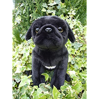 Faithful Friends Pug stuffed animal plush toy medium black: Toys & Games