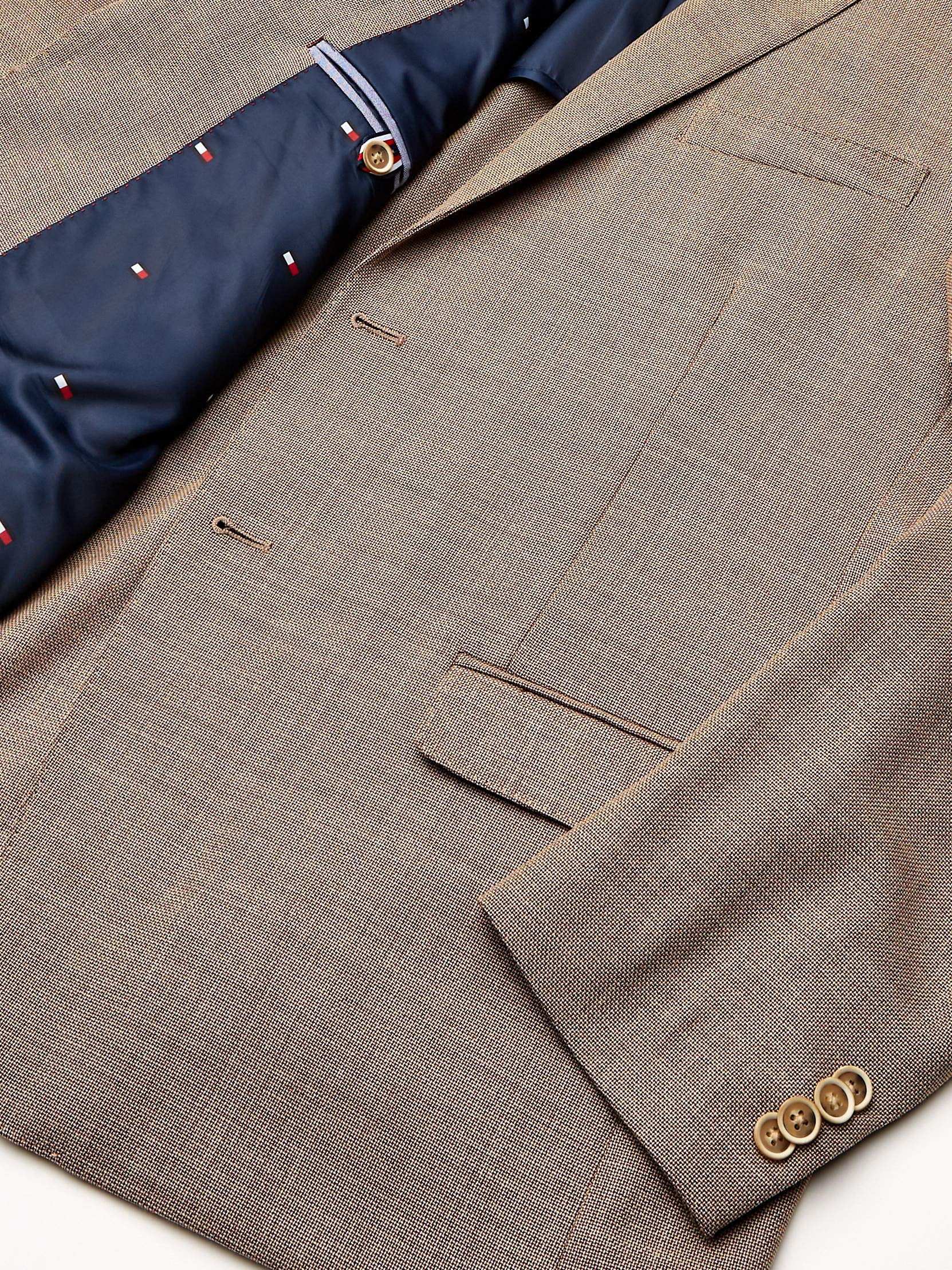 Tommy Hilfiger Men's Big and Tall Modern Blazer, Rustic Brown, 54R by Tommy Hilfiger (Image #4)