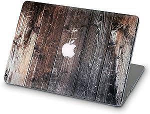 ZIZZDess Laptop Wood Grain Case For Macbook Air 13 Case 2011 2012 New Brown Full Hard Lightweight Cover For Notebook Apple Mac Air 13.3 Inch Model A1369 A1466 Art Design (Wood)