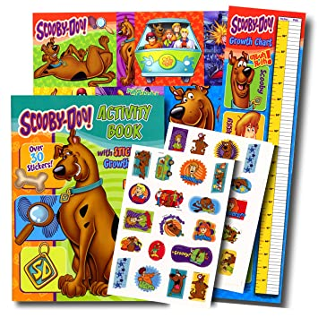 scooby doo coloring book with stickers poster growth chart bonus reward sticker by - Scooby Doo Coloring Book