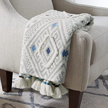 Stone & Beam Hand-Woven Global Embroidered Throw Blanket 100% Cotton