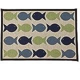 """Pet Rageous Kool Fishies Tapestry Mat Feeder, 13 x 19""""/Small"""