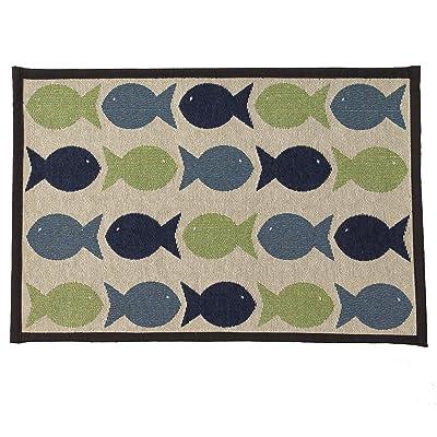 PetRageous Kool Fishies Tapestry Mat Feeder