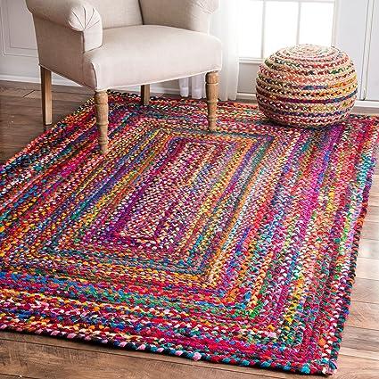 Amazon.com: Hand ided Tammara Multi-Colored Area Rug: Kitchen ...