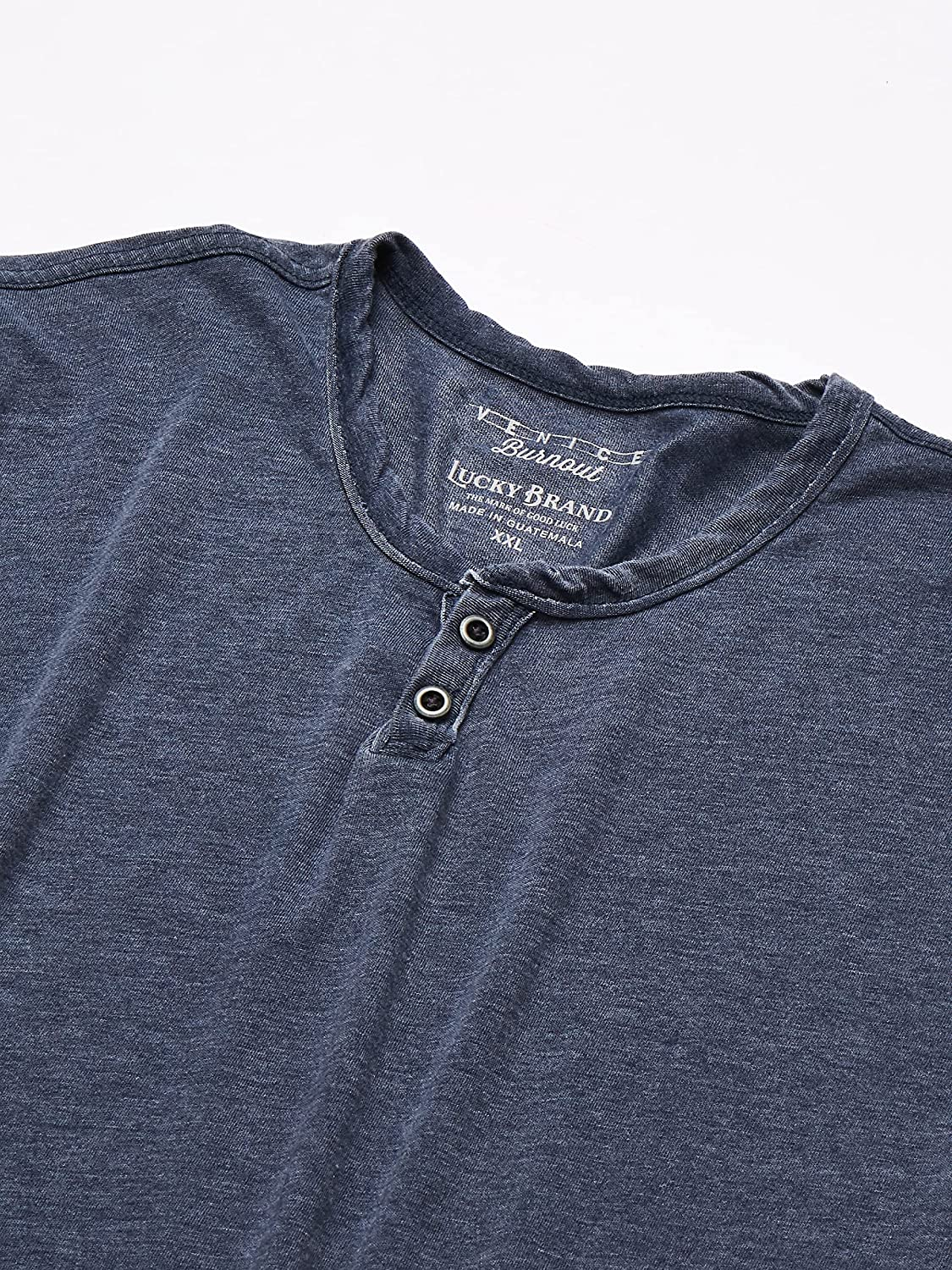 Lucky Brand Venice Burnout Thermal Henley NEW Men/'s Shirt Charcoal Grey M $49.50