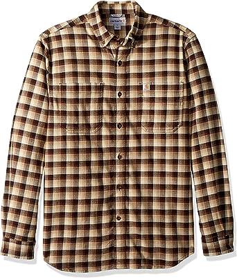 Carhartt Mens Rugged Flex Hamilton Plaid Shirt, Dark Brown ...