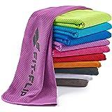 Kühlendes Handtuch Perfekt als Mikrofaser Sporthandtuch Oder Kühltuch - Cooling Towel für Fitness, Sport, Reise, Yoga Set