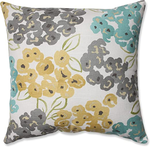 16.5-Inch Pillow Perfect Luxury Floral Pool Throw Pillow