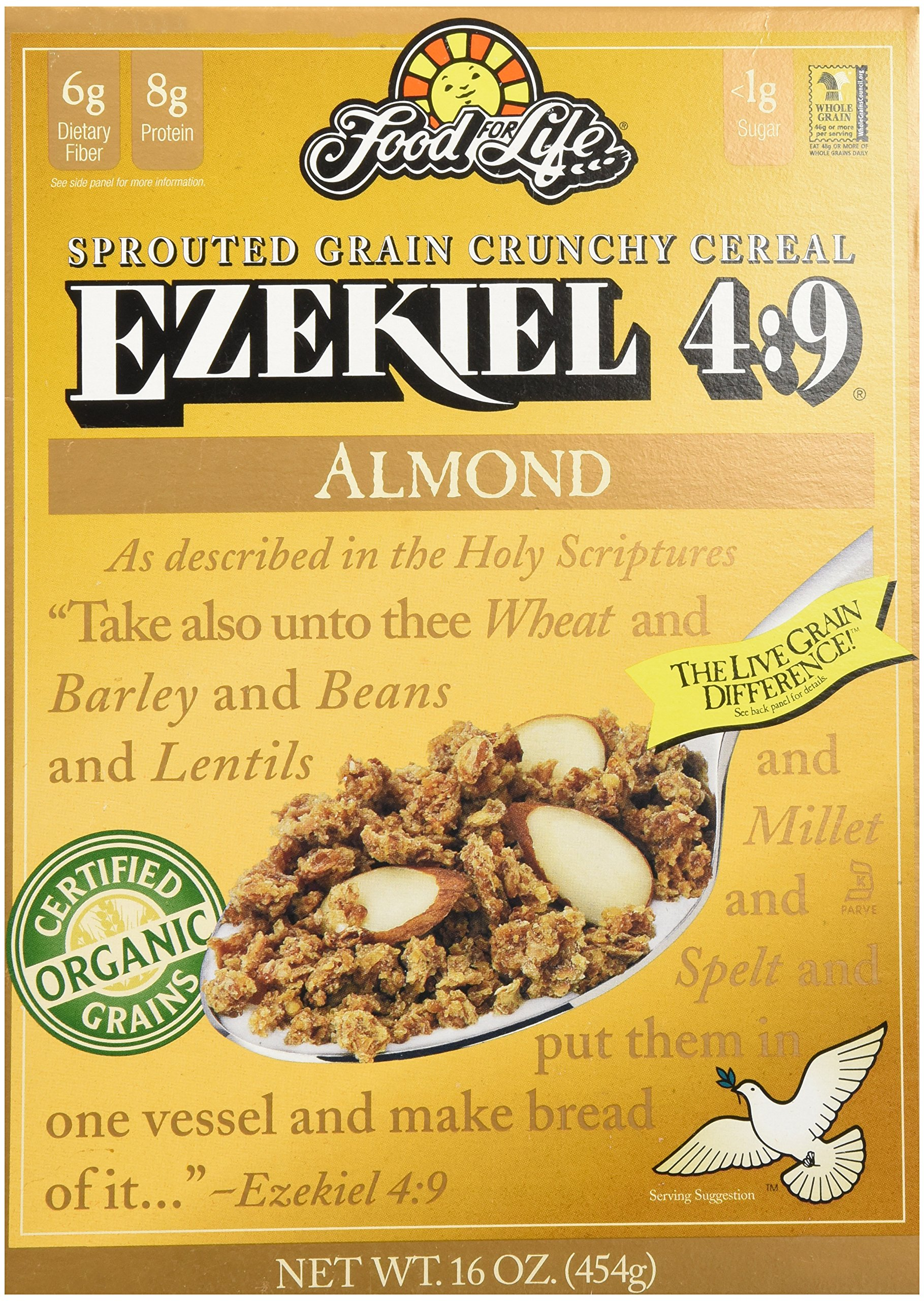 Food For Life Ezekiel 4:9� Sprouted Grain Cereal Almond 16oz