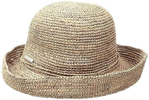 cd03252f1ff San Diego Hat Company Women s Crochet Raffia Kettle Brim Hat