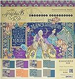 "Graphic 45 4501549 Midnight Masquerade 12x12 Pad 12'X12"" Paper Pad"