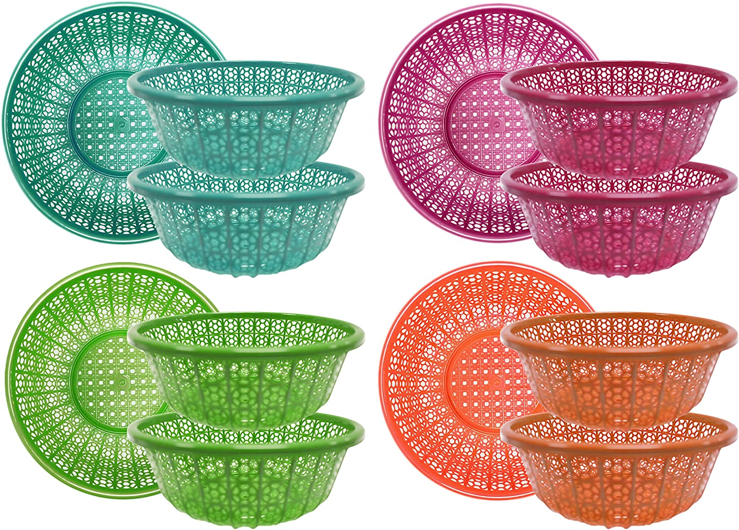 Assorted Food and Garden Collander Strainers! Use for Food Baskets With Liner - Food Strainer - Gardening Sifter and More! (12)