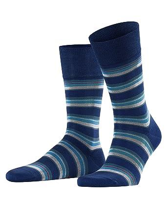 Falke Mens No10 Pure Fil d/'Ecosse Smooth Ribbed Knit Knee High Socks Dark Navy