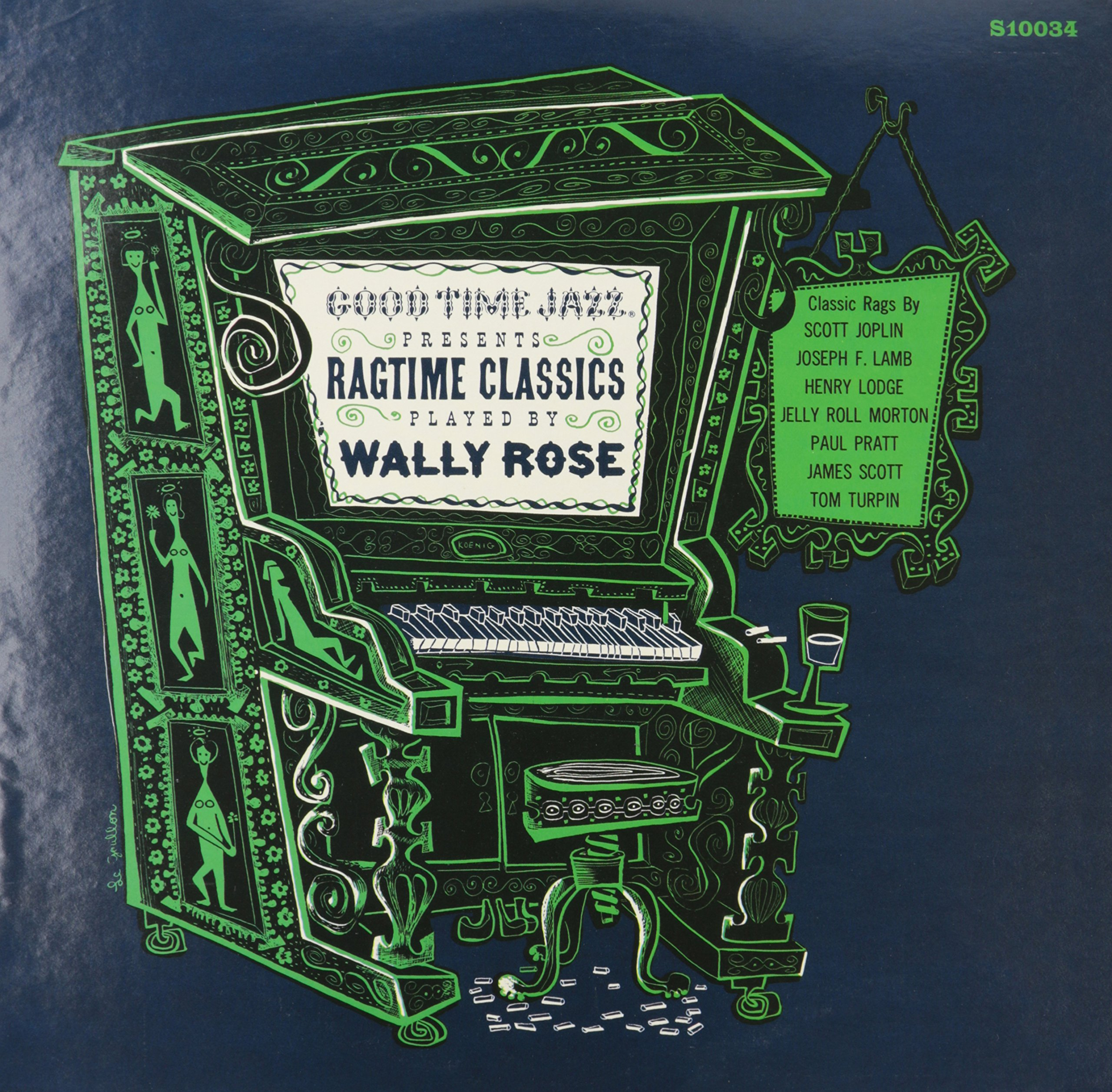 Vinilo : Wally Rose - Ragtime Classics Played By Wally Rose (LP Vinyl)