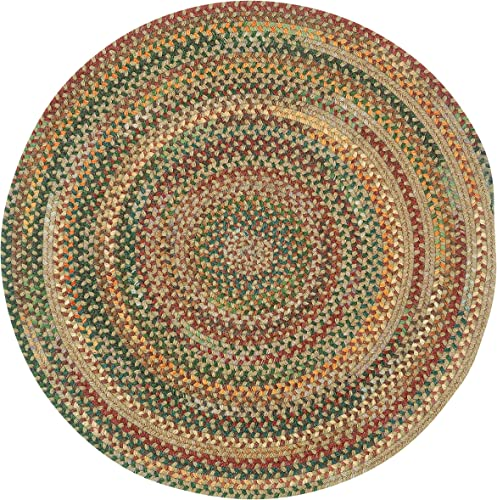 Capel Rugs American Heritage Tan Multi 7 0 Round Braided Rug