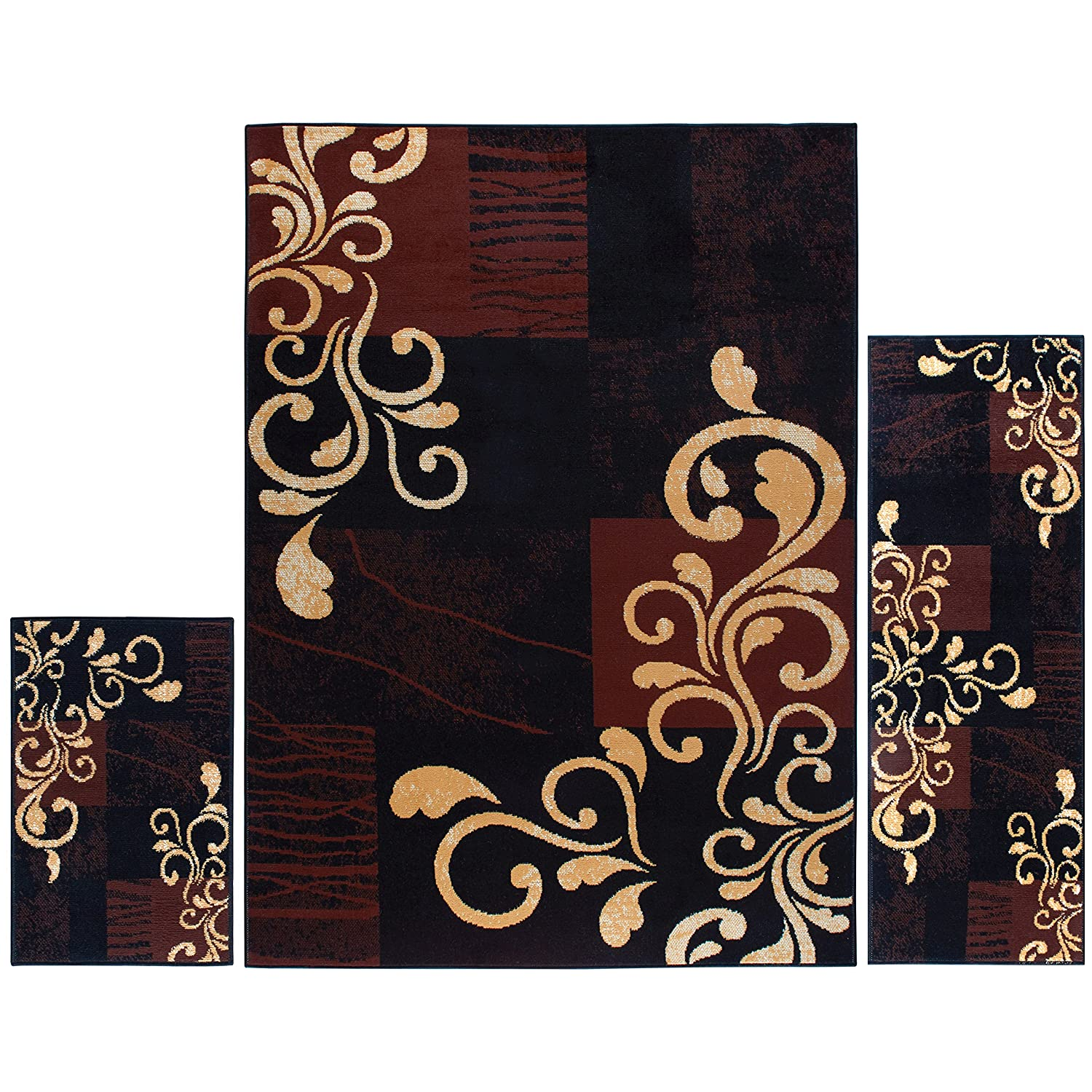 Home Dynamix Premium Collection HD1879-502 Area Rug Runner, 1'9 by 7'2, Ebony Premium HD1879-502