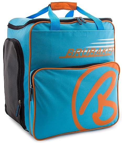 BRUBAKER Super Champion borsa per scarponi da sci con scomparto casco  colore blu   arancio ea233147bdc