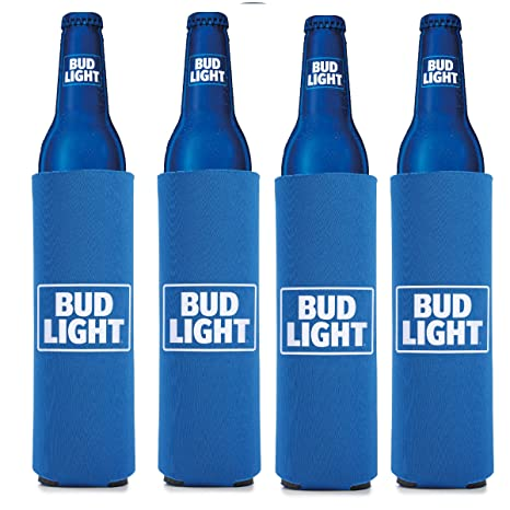 Bud Light 16 oz Beer/Water Slim Bottle- Set of 4
