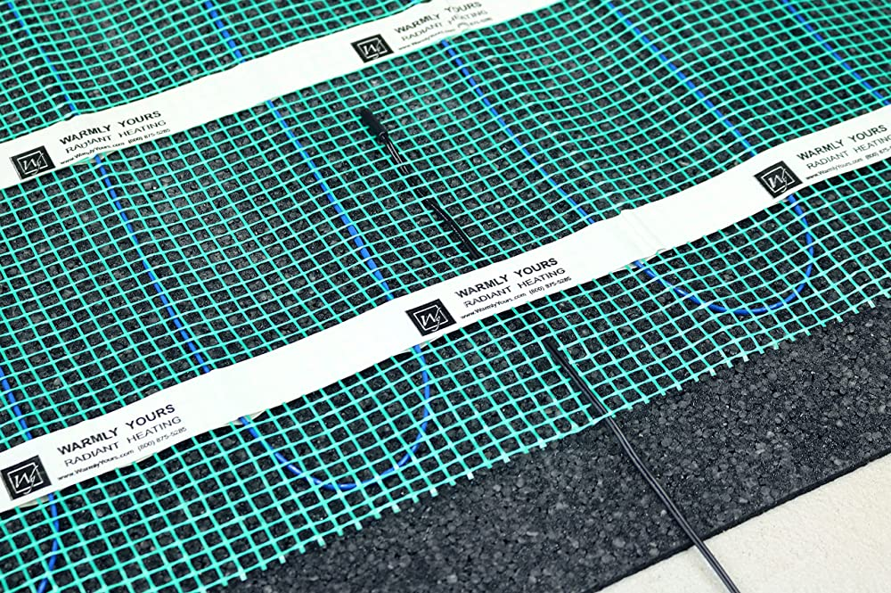 Radiant floor heating system provides higher energy