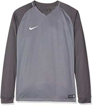 6336c5d4b84a8 Nike Kids Dry Team Trophy III Football Jersey Long Sleeved T-Shirt, Cool  Dark