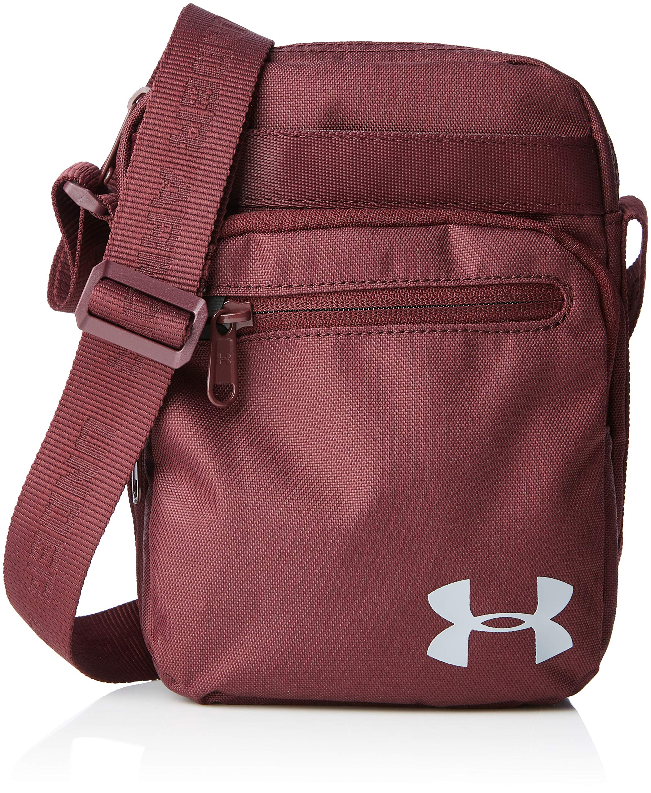 Under Armour Unisex's Crossbody Duffel, Dark Maroon/Steel, One Size