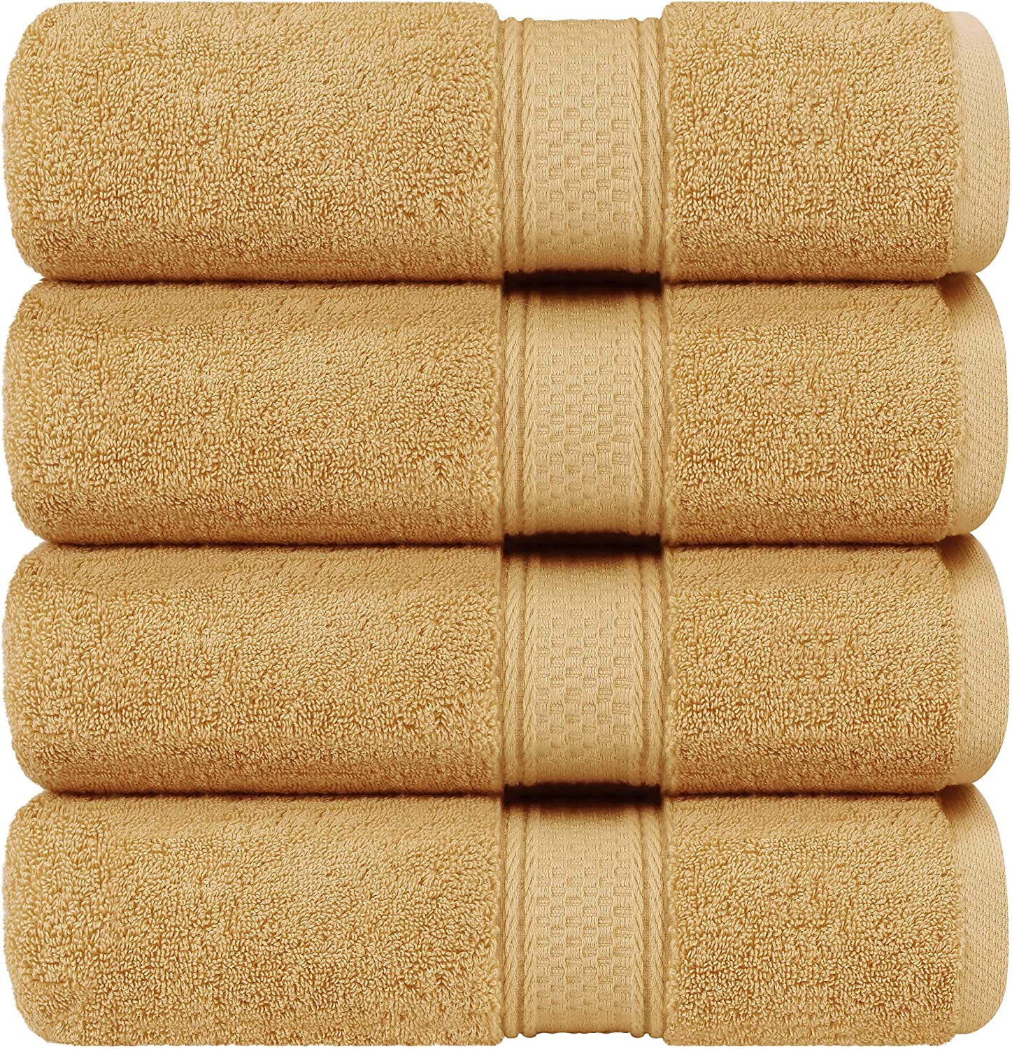 Bath Towels Set Highly Absorbent 4-Pack Beige Soft Feel Towels Premium 600 GSM 100/% Ring Spun Cotton Quick Dry Perfect for Daily Use Utopia Towels