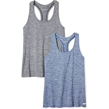 top selling Amazon Essentials Women's 2-Pack Tech Stretch Racerback Tank Top