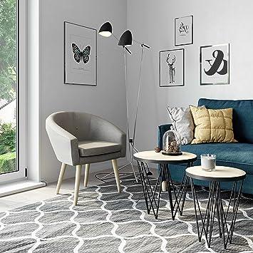 MyHomery Milo Lounge Sessel Gepolstert   Polsterstuhl Für Esszimmer U0026  Wohnzimmer   Vintagesessel Mit Armlehnen