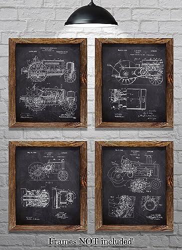 John Deere Gifts >> Amazon Com John Deere Gifts Set Of Four 8 X10 John Deere Tractor