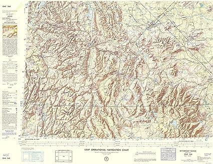 Montana Idaho Map.Amazon Com Topographical Map Bitterroot Range Montana Idaho
