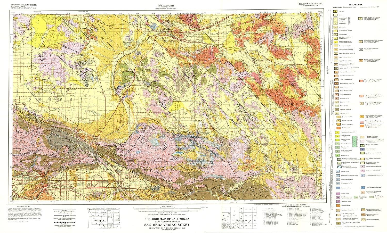Amazon.com: Mining Map - San Bernardino California Sheet - CA Mines ...